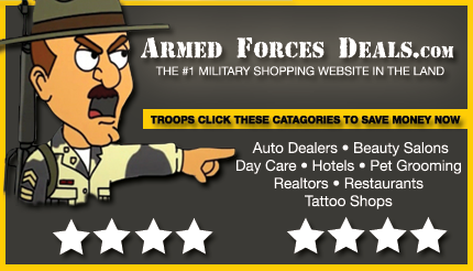 Sanford's advertises Auto Repair with ArmedForcesDeals.com