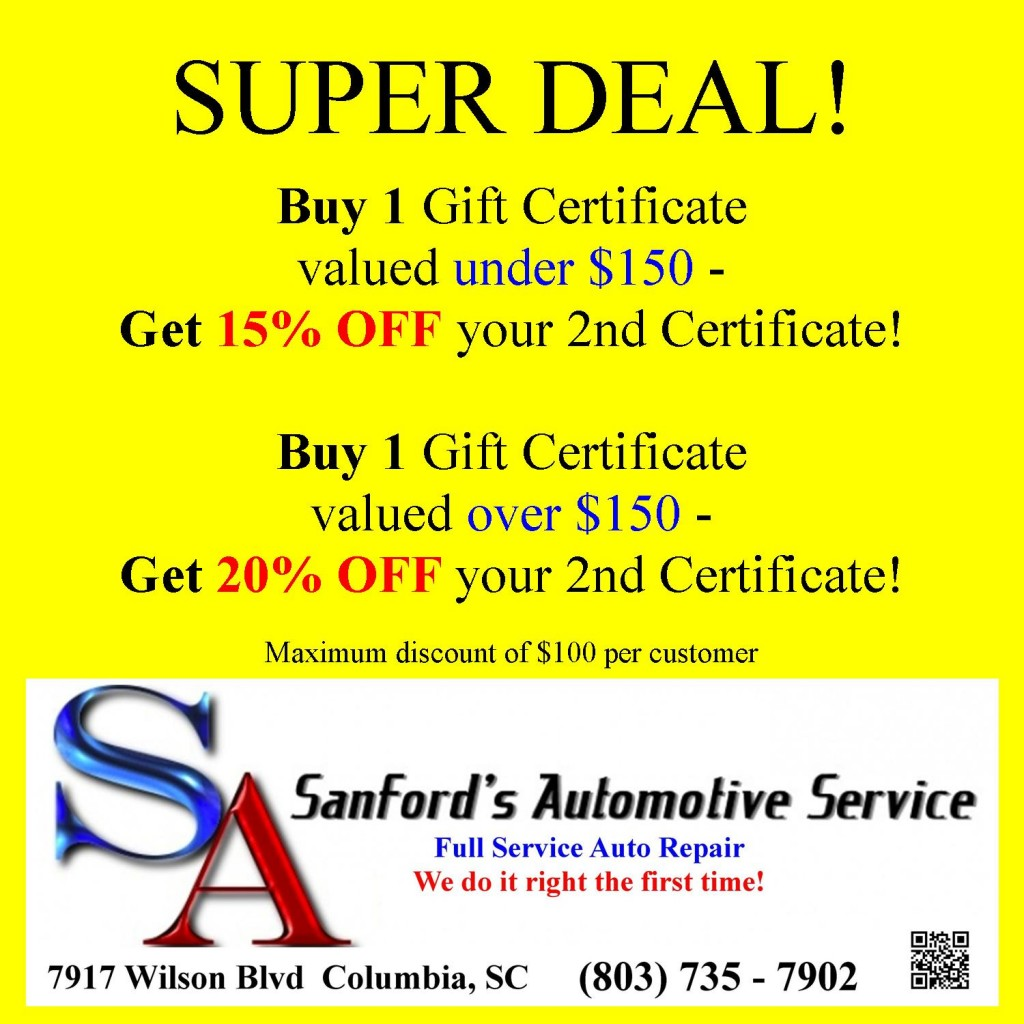 Auto Repair Service Makes A Great Gift - Columbia SC Certified Mechanic Service