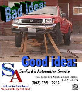 Bad Idea vs Good Idea - Choose Sanford's Automotive Service for all of you automotive needs - foreign or domestic!